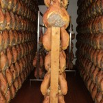 56.Wooden racks of hams